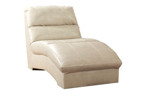 Talin Leather Chaise Lounge at Gardner White