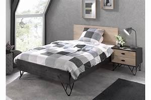 Lit Pour Ado : lit moderne couchage xl 120 x 200 cm pour chambre enfant ~ Melissatoandfro.com Idées de Décoration