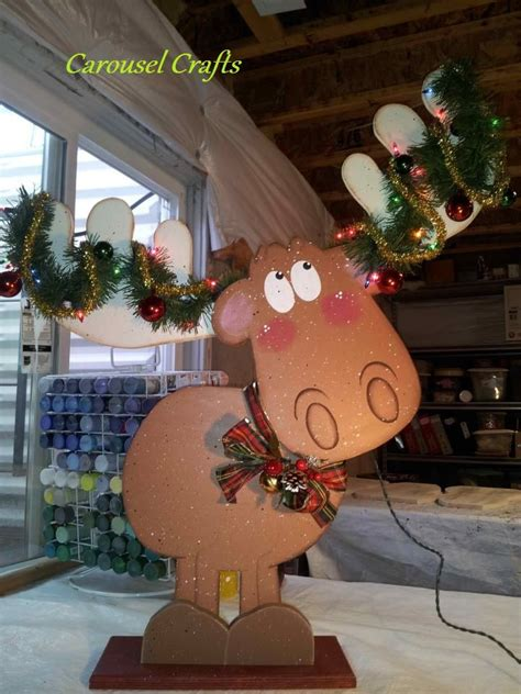 Holz Dekoration Weihnachten by Wood Moose Big Enough For The Porch There Is