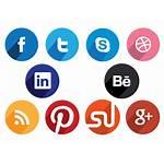 Social Icons Flat Round Circular Buttons Creative