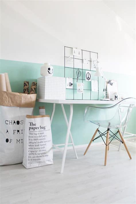 deco bureau maison idée déco peinture intérieur maison les murs bicolores