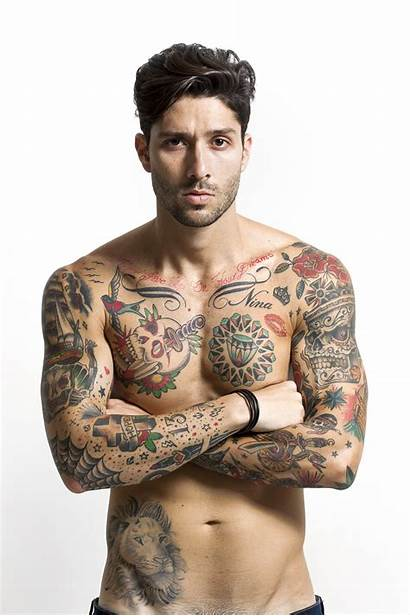 Tattooed Handsome Tattoo Portrait Arms Crossed Male