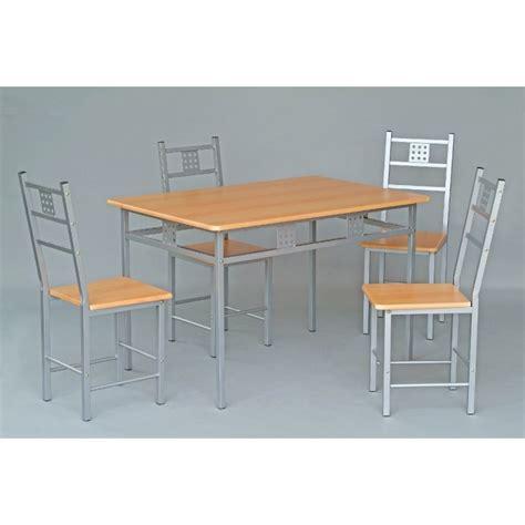 ensemble table et 4 chaises de cuisine panel meuble magasin de meubles en ligne