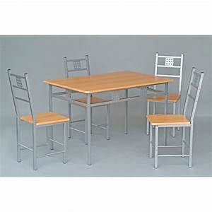 ensemble table et 4 chaises de cuisine panel meuble With ensemble table chaises cuisine