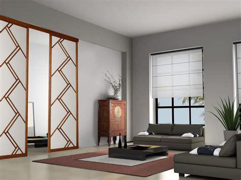 meuble avec rideau coulissant pour cuisine panneaux japonais dressing concept