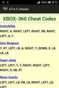 GTA 5 Cheat Codes Xbox 360