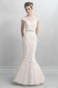 wedding dresses with sleeves illusion neckline wedding With wedding dress necklines