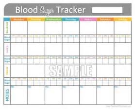 Printable Sugar Blood Glucose Log