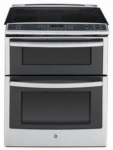 GE Stainless Steel Slide-In Electric Double-Oven ...