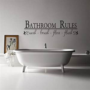 30 unique wall decor ideas godfather style for Cute sayings for bathroom walls
