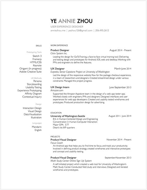 Interaction Designer Resume by 8 Brilliant Ux Designer Resumes That Secured Offers