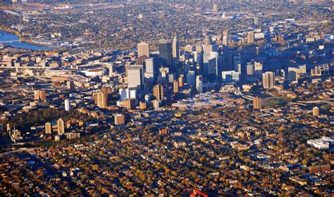 Minneapolis downtown   Taken from a flight just after take ...