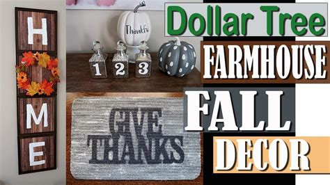 dollar tree farmhouse fall decor  dollar tree diy
