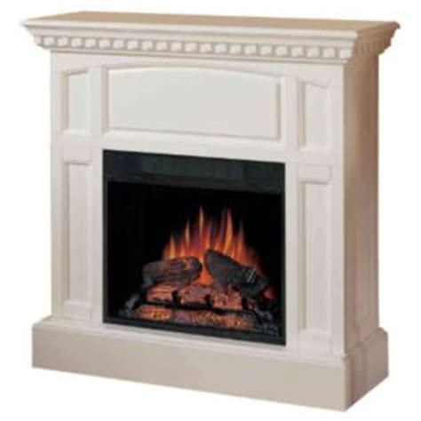 gas light mantles home depot charmglow white mahogany vent free electric fireplace at
