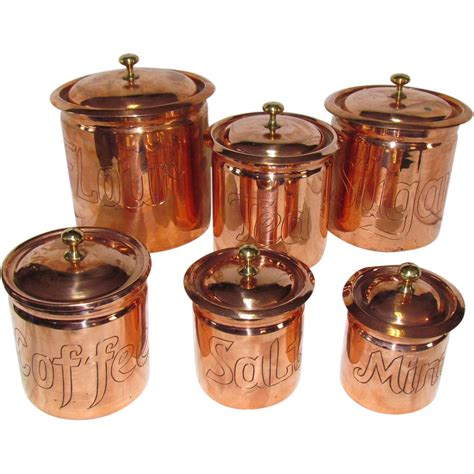 copper kitchen canisters the best set of copper kitchen canisters i ve seen from