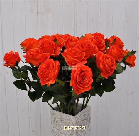 fiore la rosa fiore artificiale rosa arancio per bouquet di fiori