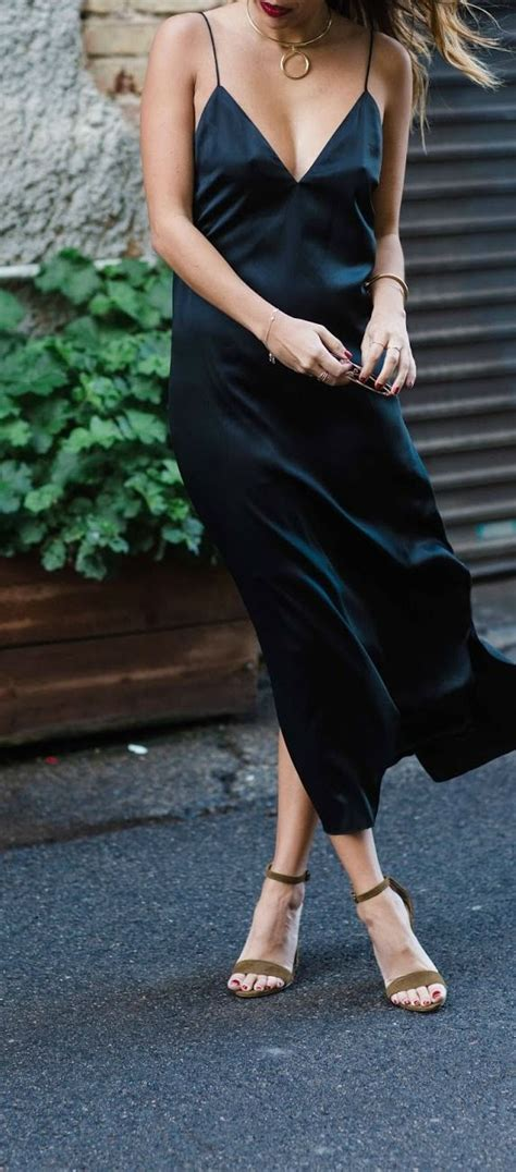 25+ best ideas about Slip dresses on Pinterest | Slip dress outfit Slip and fall and Fall night ...