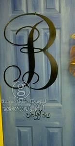 Metal front door initial letters pinterest for Metal letters for front door