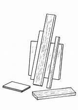Bois Coloriage Madera Dibujo Tablas Legno Kleurplaat Disegno Colorare Colorear Holz Planken Houten Malvorlage Coloring Plaques Mensole Imprimir Mensola Dessins sketch template