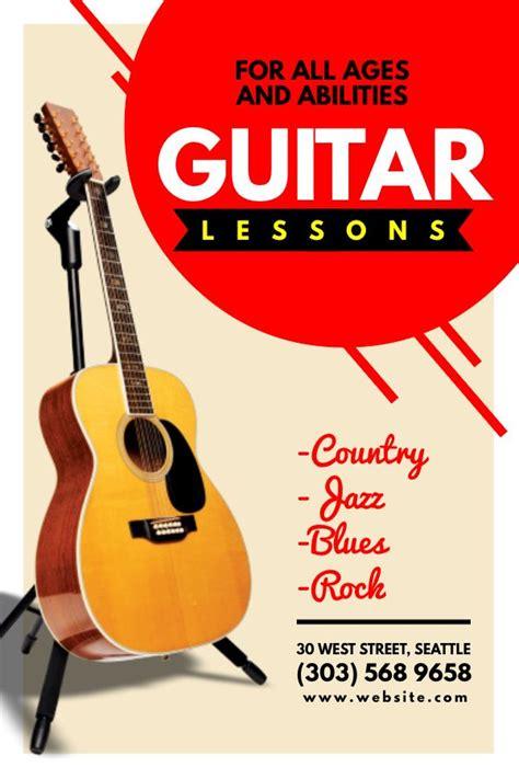 guitar lesson advertisement flyer poster social media