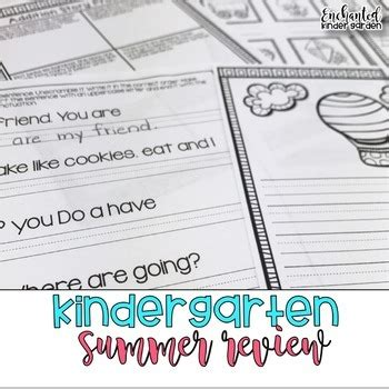 Kindergarten Summer Review By Keri Brown  Teachers Pay Teachers