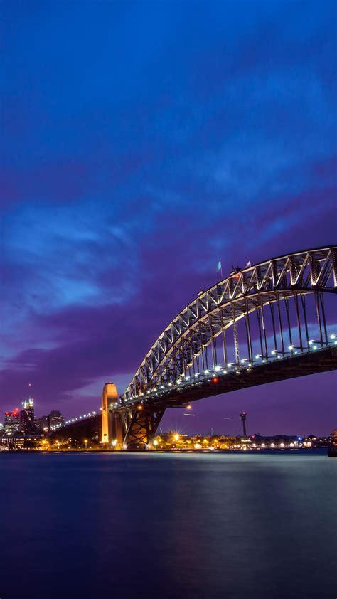 wallpaper sydney harbour bridge cityscape north shore