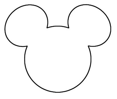 Disney Mickey Mouse Head Outline