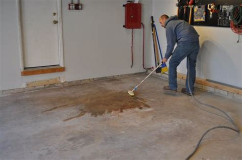 clean up on garage floor how to paint an epoxy concrete floor coating quikrete exle one project closer