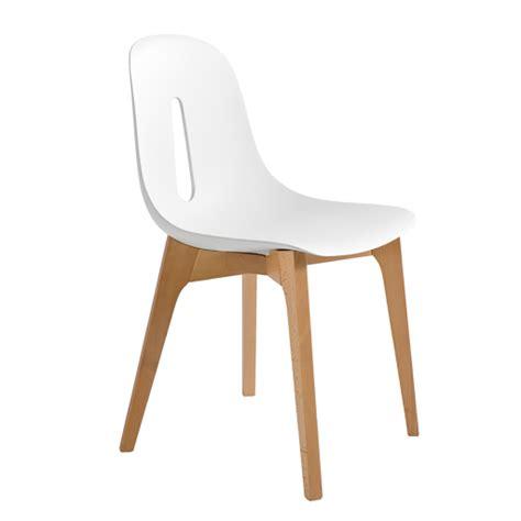 chaises bois blanc groupe sofive