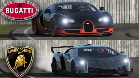 Bugatti Veyron Vs Lamborghini Veneno