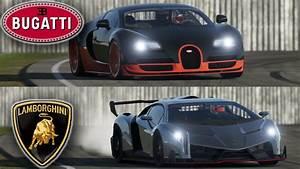 Bugatti Veyron vs Lamborghini Veneno - Top Gear track! You ...