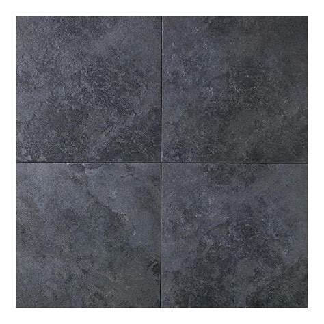 porcelain tile black daltile continental slate asian black 18 in x 18 in porcelain floor and wall tile 18 sq ft