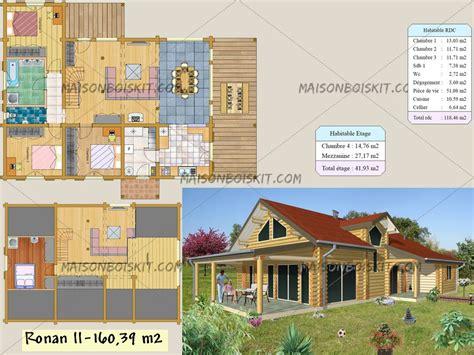 plan maison etage 4 chambres plans gratuits de maisons bois contemporaines toit plat