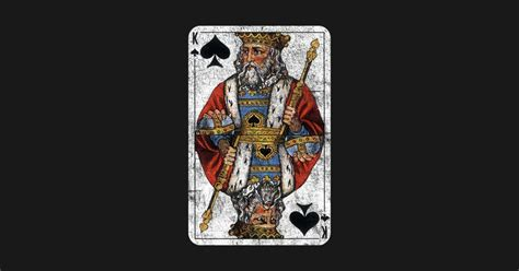 Vintage King Of Spades Playing Card