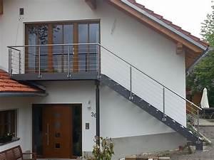 stahltreppen metallbau stahlbau freyung grafenau anton With französischer balkon mit podest im garten