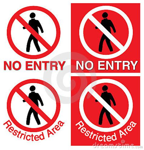 entry restricted area royalty  stock photography