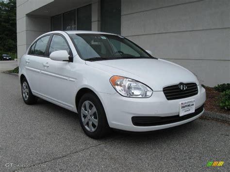 Hyundai Accent 2008 by 2008 Nordic White Hyundai Accent Gls Sedan 14716590