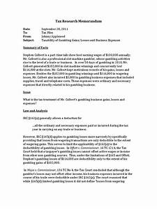 tax research memo example With tax research memo template