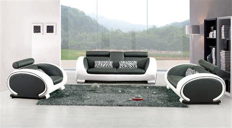 canapé cuir de buffle canape design blanc et noir