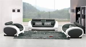 Plaid Noir Et Blanc : canape design blanc et noir ~ Dailycaller-alerts.com Idées de Décoration