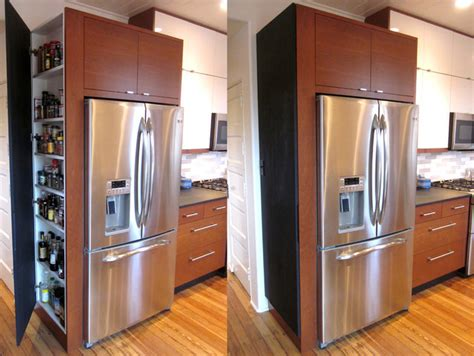 hidden cabinet modern kitchen louisville  rock
