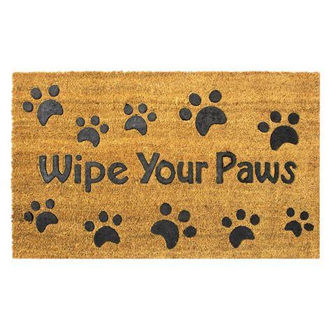 Wipe Your Paws Doormat by Wipe Your Paws Embossed 30 In X 18 In Coir Door Mat En