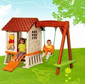Cabane Exterieur Enfant : smoby c cabane portique winnie ~ Melissatoandfro.com Idées de Décoration