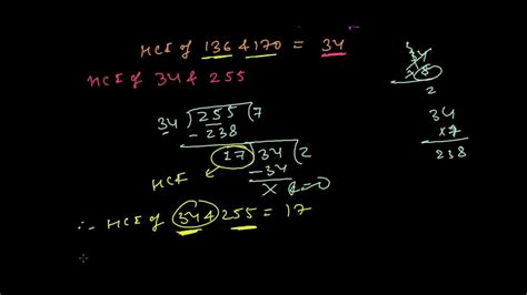 find gcf hcf   numbers  division method youtube