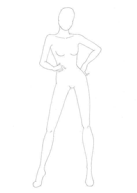 sketch templates the gallery for gt plus size fashion croquis