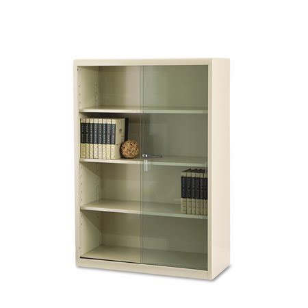 Walmart Bookcase With Glass Doors by Tennsco Executive Steel Bookcase With Glass Doors Four