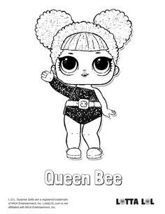 queen bee coloring page lotta lol jazzie  birthday