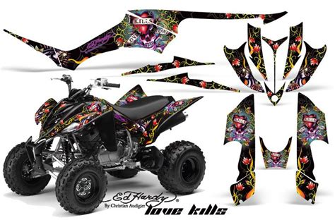 amr graphic kit yamaha raptor 350 atv stickers ed hardy idea house graphics
