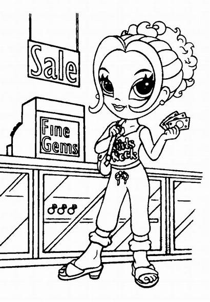 Coloring Supermarket Shopping Pages Printable Getcolorings