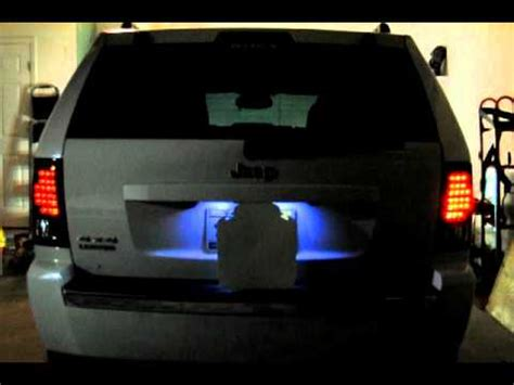 Tinted Tail Lights by Jeep Grand Cherokee Tinted Led Tail Lights Youtube